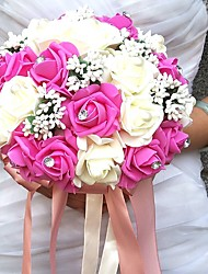 "cheap -Wedding Flowers Bouquets / Unique Wedding Décor Special Occasion / Party / Evening Bead / Rhinestone / Foam 19.7""(Approx.50cm)"
