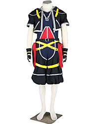 cheap -Inspired by Kingdom Hearts Cosplay Anime Cosplay Costumes Japanese Cosplay Suits Solid Colored Coat / Pants / Gloves For Men's