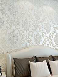 cheap -Art Deco Home Decoration Classical Wall Covering, Non-woven Paper Material Adhesive required Wallpaper, Room Wallcovering