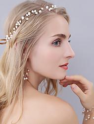 cheap -Pearl Crystal Tiaras Headbands Headpiece Classical Feminine Style