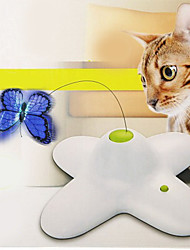 cheap -Cat Teasers Cat Kitten Pet Toy Electronic Butterfly Plastic Gift