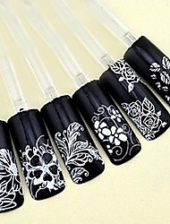 cheap -1 pcs 3D Nail Stickers nail art Manicure Pedicure Flower / Fashion Daily