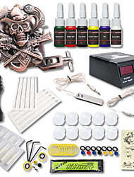 cheap -Tattoo Machine Starter Kit - 1 pcs Tattoo Machines with 6 x 5 ml tattoo inks, Professional LCD power supply Case Not Included 1 cast iron machine liner & shader