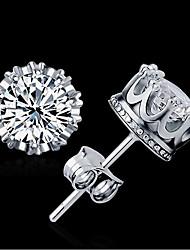 cheap -Women's AAA Cubic Zirconia Stud Earrings Zircon Earrings Jewelry Gold / Silver For Wedding