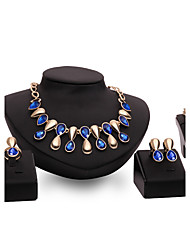 cheap -Women's Jewelry Set Rings Set Stacking Stackable Drop Ladies Punk Earrings Jewelry Purple / Blue For Wedding Party Daily