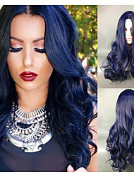 cheap -Synthetic Wig Body Wave Body Wave Wig Blue Synthetic Hair Women's Blue