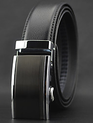 cheap -Men's Work / Casual Leather / Alloy Waist Belt - Solid Colored