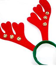 cheap -Christmas Gifts Christmas Headband Antler Hairband Christmas Christmas Bells 4Pcs