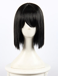 cheap -Cosplay Costume Wig Synthetic Wig Straight Straight Wig Short Natural Black Synthetic Hair Women's Black OUO Hair