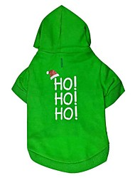 cheap -Dog Hoodie Winter Dog Clothes Green Costume Cotton Letter & Number Fashion Christmas XS S M L