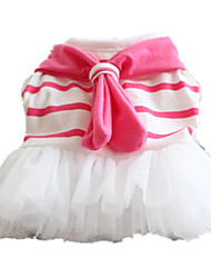 cheap -Dog Dress Sailor Casual / Daily Dog Clothes Puppy Clothes Dog Outfits White Costume for Girl and Boy Dog Woolen S M L