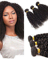 cheap -Malaysian Hair Kinky Curly / Curly Weave Human Hair Natural Color Hair Weaves / Hair Bulk Human Hair Weaves Human Hair Extensions