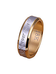 cheap -Men's Band Ring Groove Rings Gold / Silver Stainless Steel Silver Plated Alloy Christmas Gifts Wedding Jewelry Two tone Heart
