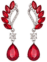 cheap -Women's Synthetic Amethyst Drop Earrings Pear Cut Marquise Cut Crystal Imitation Diamond Earrings Jewelry Purple / Red For Wedding Party Daily