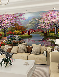 cheap -Mural Canvas Wall Covering - Adhesive required Art Deco / 3D