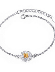cheap -Women's Chain Bracelet Sterling Silver Bracelet Jewelry Silver For Party