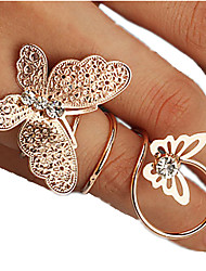 cheap -Women's Silver Golden Rhinestone Alloy Unusual Unique Design Fashion Party Daily Jewelry Butterfly