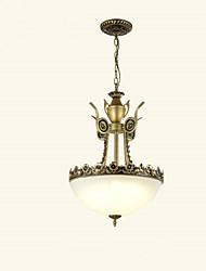 cheap -3-Light Chandelier Uplight Painted Finishes Metal Glass Mini Style 110-120V / 220-240V Bulb Not Included / E26 / E27