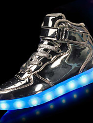 cheap -Boys USB Charging  LED / Comfort / LED Shoes PU Athletic Shoes Little Kids(4-7ys) Black / White / Gold Winter / TR