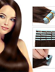 cheap -Febay Tape In Human Hair Extensions Straight Human Hair Human Hair Extensions Brazilian Hair 1 Bundle Women's Medium Auburn