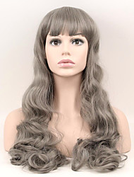 cheap -Synthetic Wig Natural Wave Natural Wave Wig Long Very Long Grey Synthetic Hair Women's Gray