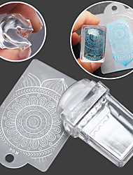 cheap -1SET Stamper & Scraper Template nail art Manicure Pedicure Fashion Daily / Silicone / Plastic