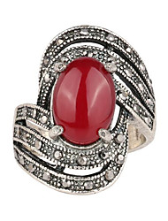 cheap -Women's Ring thumb ring Crystal AAA Cubic Zirconia Black Red Alloy Asian Luxury Classic Casual Jewelry