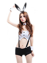 cheap -Women's Bunny Girl Career Costumes Sex Cosplay Costume Party Costume Solid Colored Top Pants Headwear