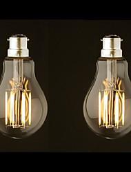 Недорогие -ONDENN 2pcs 8 W LED лампы накаливания 800 lm B22 G60 8 Светодиодные бусины COB Диммируемая Тёплый белый 220-240 V 110-130 V / 2 шт. / RoHs