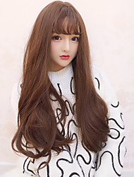 cheap -Cosplay Wigs Women's 30 inch Heat Resistant Fiber Brown Brown Anime