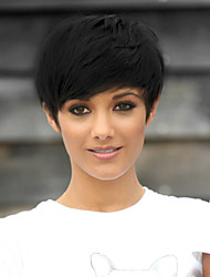 cheap -Synthetic Wig Straight Straight Bob Wig Short Natural Black Synthetic Hair Women's Black