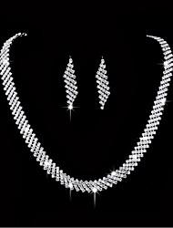 abordables -Femme Plaqué argent Des boucles d'oreilles Bijoux Argent Pour Mariage Soirée