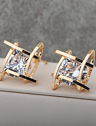 cheap -Women's Girls' Crystal Stud Earrings Drop Earrings Crystal Gold Plated Earrings Jewelry Gold / Silver For Wedding Party Casual 1pc