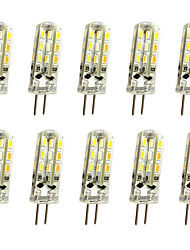 abordables -10pcs 1 W LED à Double Broches 120 lm G4 T 24LED Perles LED SMD 3014 Décorative Blanc Chaud Blanc Froid 12 V / 10 pièces / RoHs