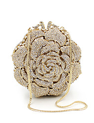 cheap -Women's Bags Metal Clutch Crystals Wedding Bags Wedding Party Event / Party Gold