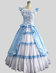 cheap -Rococo Victorian Costume Women's Dress Party Costume Masquerade Vintage Cosplay Cotton Sleeveless Ankle Length Ball Gown Plus Size Customized