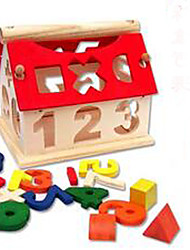 cheap -Building Blocks Military Blocks Construction Set Toys Educational Toy Building Bricks 1 pcs House Soldier Lovely Novelty Building Toys Boys' Girls' Toy Gift / Kid's