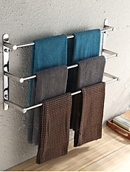 cheap -towel bar stainless steel 3 tier towel rack bathroom shelves wall mounted 70cm
