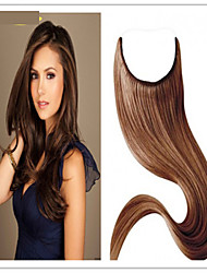 cheap -Flip In Human Hair Extensions Straight Human Hair Human Hair Extensions Brazilian Hair Halo Extensions 8a Women's Grey