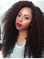 cheap -Human Hair Glueless Lace Front Lace Front Wig style Afro Wig 120% Density Natural Hairline African American Wig 100% Hand Tied Women's Short Medium Length Long Human Hair Lace Wig SunnyQueen