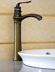 cheap -Bathroom Sink Faucet - Waterfall Antique Brass Deck Mounted Single Handle One HoleBath Taps