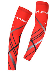 cheap -1 Pair XINTOWN Cycling Sleeves Sun Sleeves Compression Sleeves UPF 50 Lightweight Sunscreen Bike Red Blue Elastane Winter for Men Women Adults' Road Bike Mountain Bike MTB Running / Stretchy