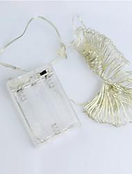 cheap -3m String Lights 30 LEDs Warm White / RGB / White Battery