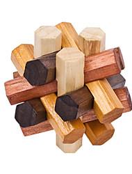 cheap -Wooden Puzzle / IQ Brain Teaser / Kong Ming Lock Creative / Cool / Novelty Wooden Boys' / Girls' Gift 1 pcs