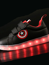 cheap -Boys USB Charging  LED / Comfort / LED Shoes PU Sneakers Little Kids(4-7ys) / Big Kids(7years +) LED Black / White Spring & Summer / TR / EU36