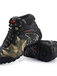 cheap -Men's Sneakers Snow Boots Mountaineer Shoes Waterproof Breathable Anti-Slip Anti-Shake / Damping High-Top Camo / Camouflage Ski / Snowboard Hiking Climbing Spring Fall Winter Gray Khaki / Cushioning