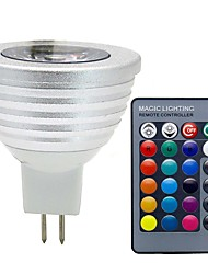 cheap -3 W LED Spotlight 280 lm GU5.3(MR16) MR16 1 LED Beads COB Dimmable Remote-Controlled Decorative RGB 12 V / 1 pc / RoHS