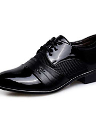cheap -Men's Formal Shoes PU Spring / Fall Oxfords Waterproof Wine / Light Brown / Black / Wedding / Party & Evening / Sequin / Lace-up / Party & Evening