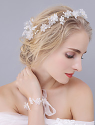 cheap -Tulle / Crystal / Imitation Pearl Crown Tiaras / Headbands / Flowers with 1 Piece Wedding / Special Occasion Headpiece