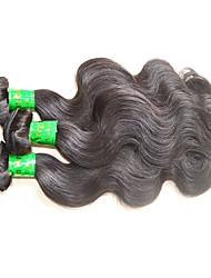 cheap -wholesale 10a indian remy human hair weaves 1kg 10bundles lot indian virgin hair body wave natural black color top quality free tangles